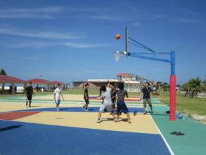 バスケットボール対決